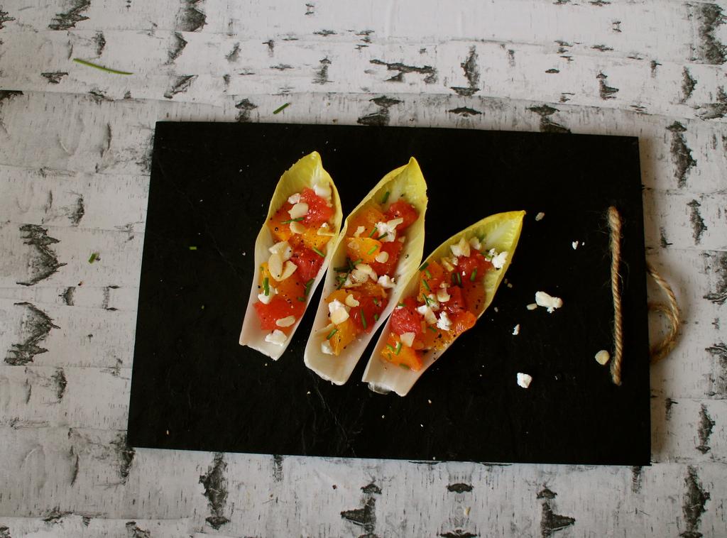 Julesalat med appelsin, grape og gedeost