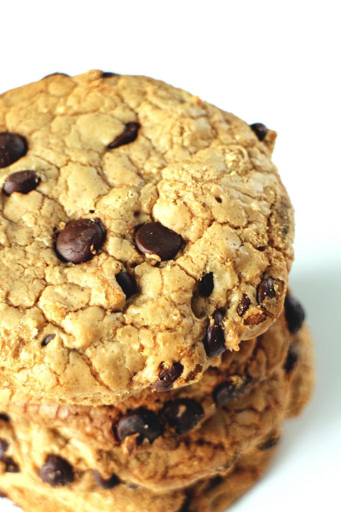 Chocolate chip cookies med brunet smør