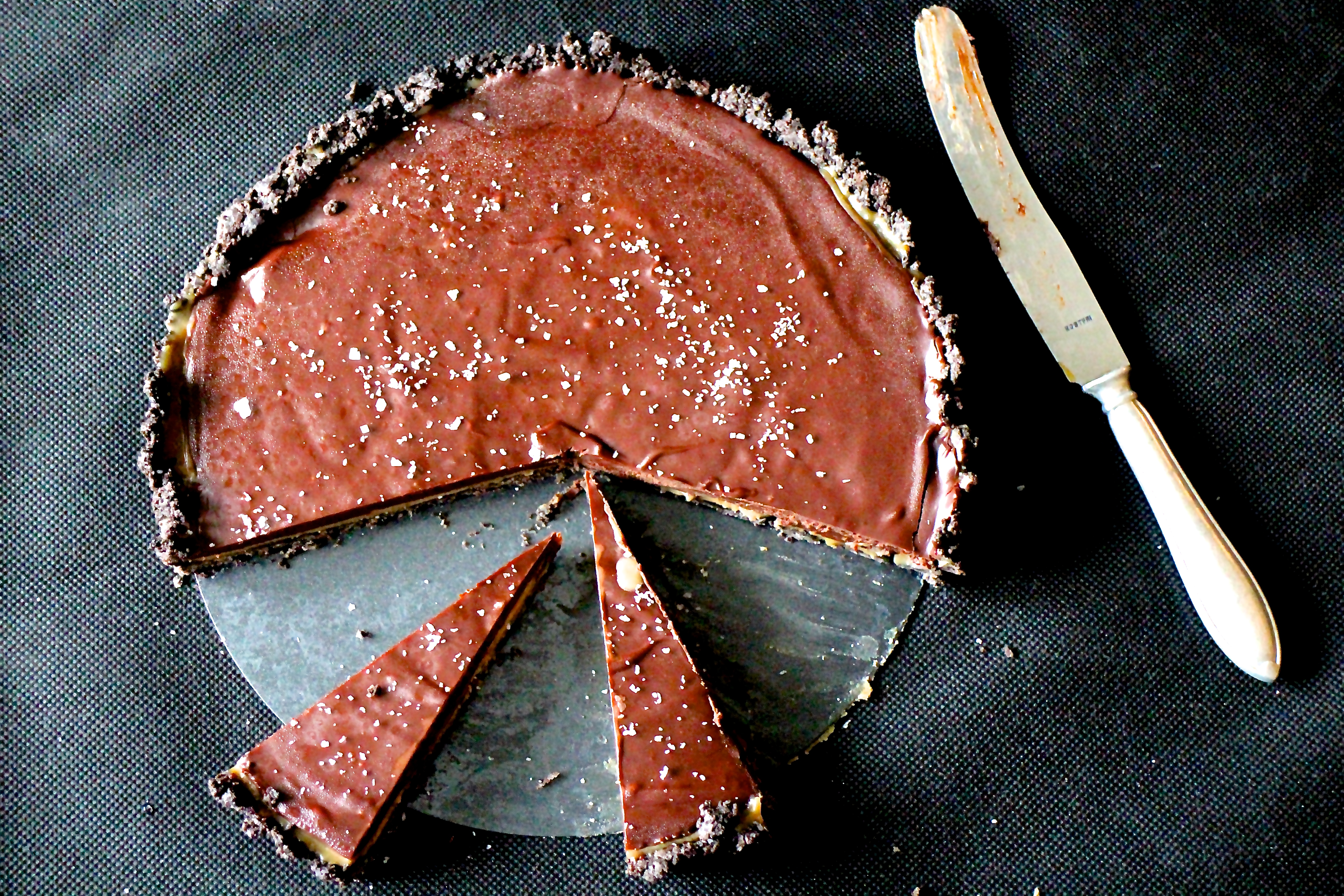 Oreotærte med karamel