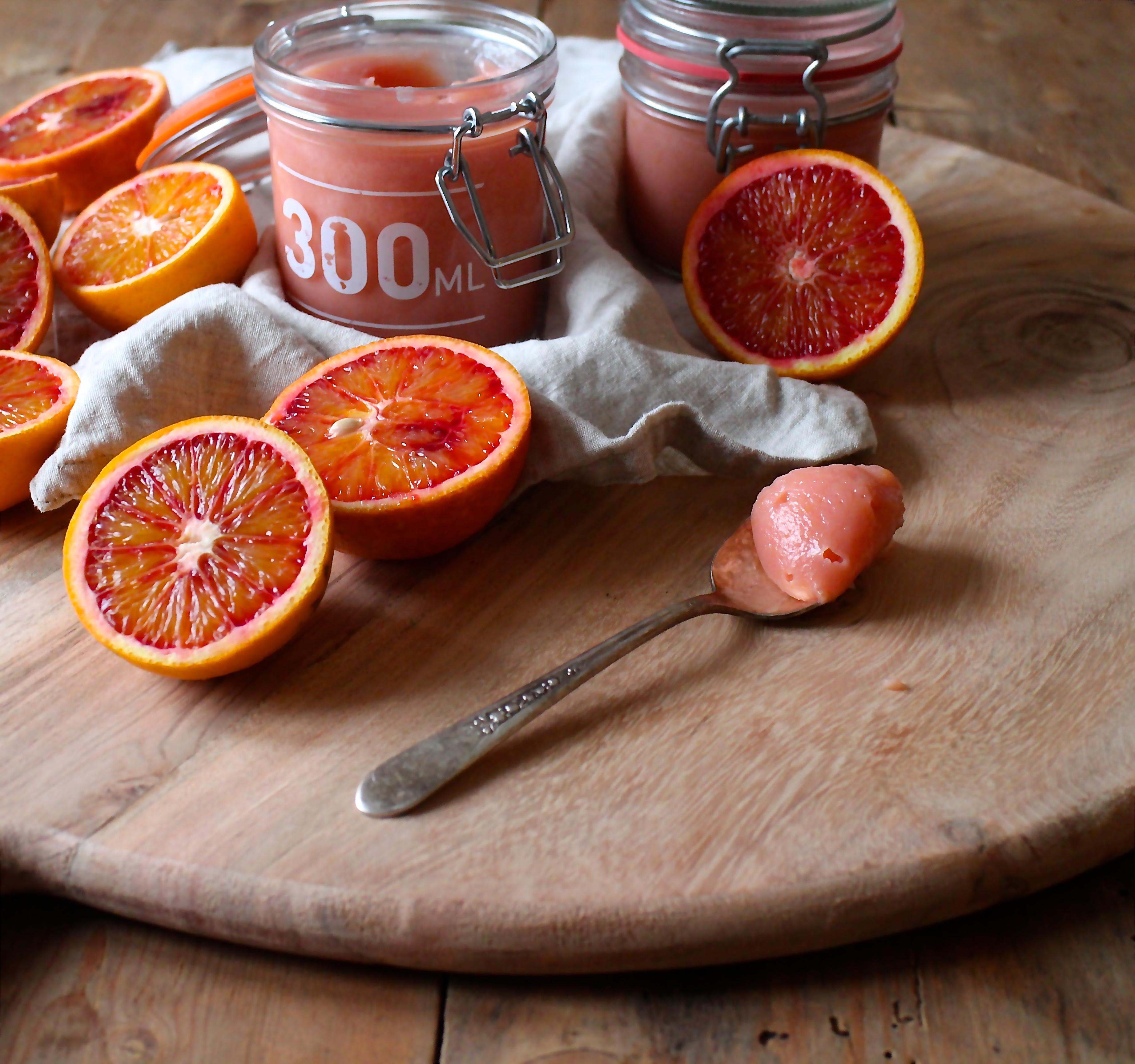 Blodappelsin curd/Blood orange curd - Sabrina Hørup